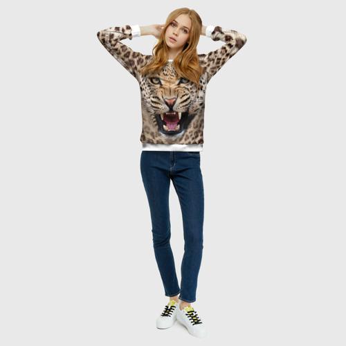 Женский свитшот 3D Леопард
