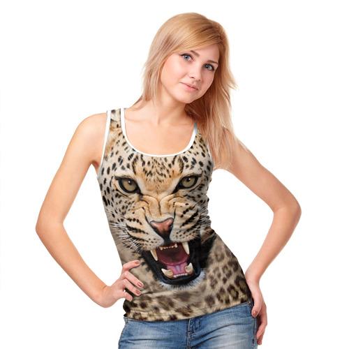 Женская майка 3D  Фото 05, Леопард