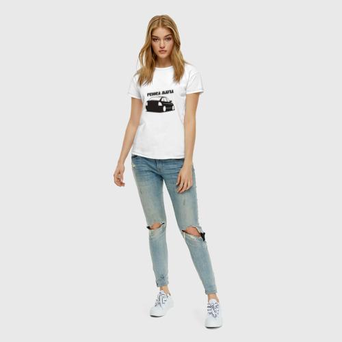 Женская футболка хлопок Мафия Фото 01