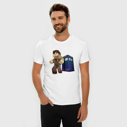 Мужская футболка премиум  Фото 03, Доктор КТО (Minecraft)