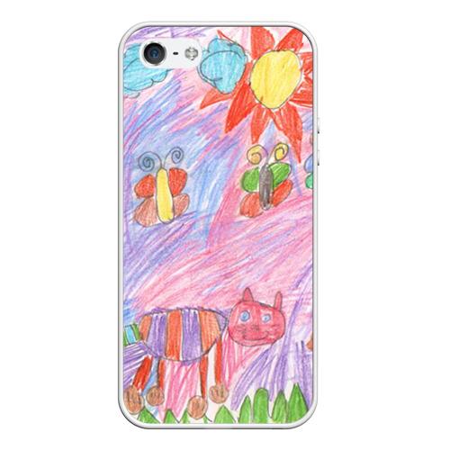 Чехол для Apple iPhone 5/5S силиконовый Детские рисунки