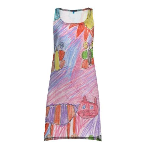 Платье-майка 3D Детские рисунки