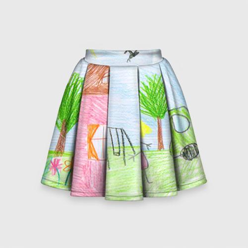 Детская юбка-солнце 3D Детские рисунки