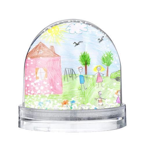 Водяной шар со снегом Детские рисунки