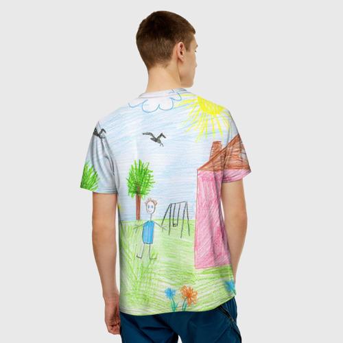 Мужская футболка 3D Детские рисунки
