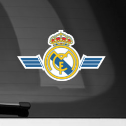 Наклейка на автомобиль Real Madrid