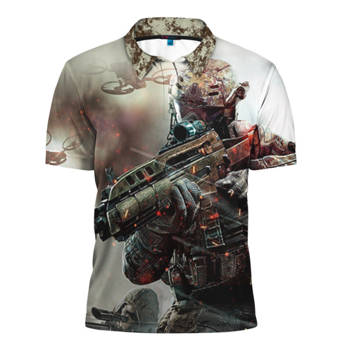 Мужская рубашка поло 3D Ghost Recon