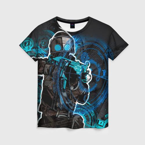 """Женская футболка 3D с полной запечаткой """"Counter Strike"""" - 1"""