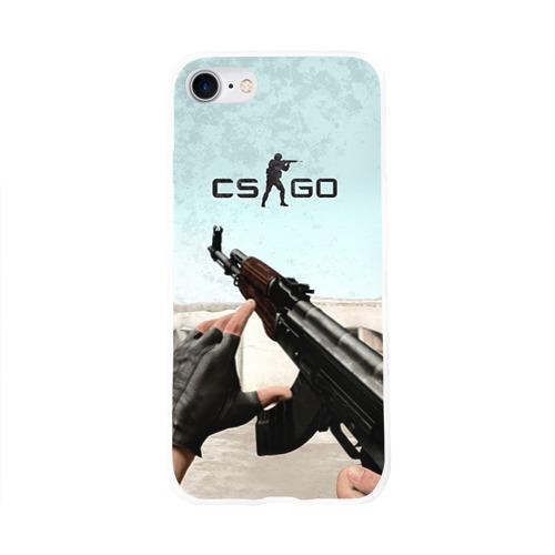 Чехол для Apple iPhone 8 силиконовый глянцевый  Фото 01, Counter Strike