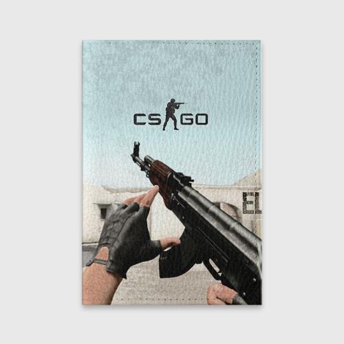 Обложка для паспорта матовая кожа Counter Strike