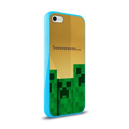 Чехол для Apple iPhone 5/5S силиконовый глянцевый  Фото 02, Minecraft