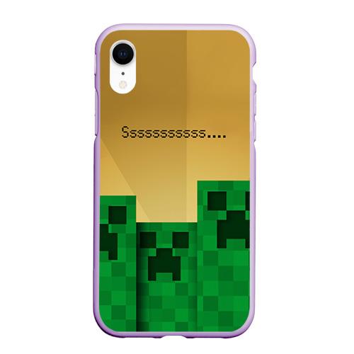 Чехол для iPhone XR матовый Minecraft Фото 01