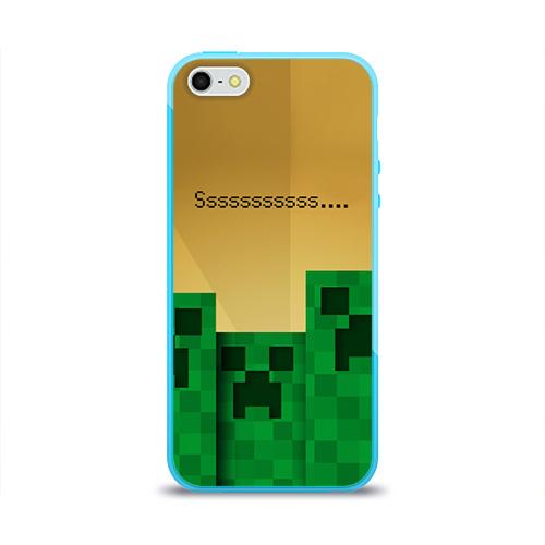Чехол для Apple iPhone 5/5S силиконовый глянцевый  Фото 01, Minecraft