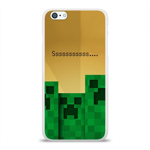 Чехол для Apple iPhone 6Plus/6SPlus силиконовый глянцевый Minecraft