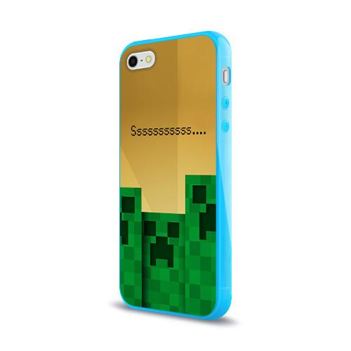 Чехол для Apple iPhone 5/5S силиконовый глянцевый  Фото 03, Minecraft
