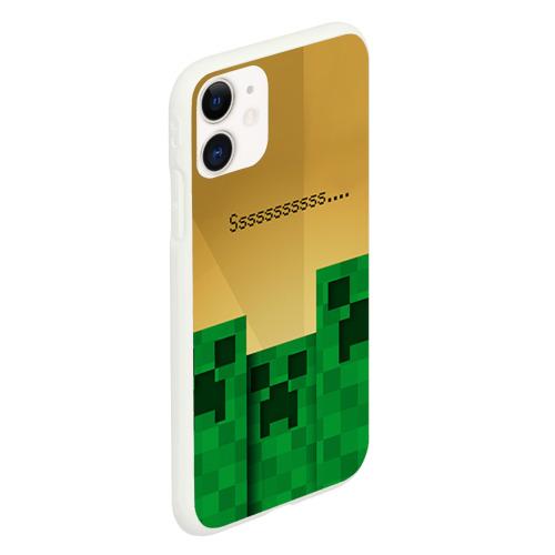 Чехол для iPhone 11 матовый Minecraft Фото 01