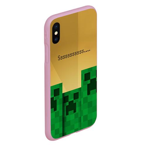 Чехол для iPhone XS Max матовый Minecraft Фото 01