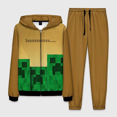 Мужской костюм 3D Minecraft Фото 01
