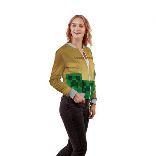 Женский бомбер 3D Minecraft Фото 01