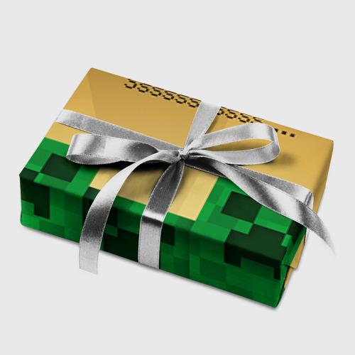 Бумага для упаковки 3D Minecraft Фото 01