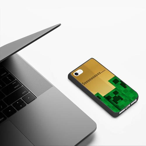 Чехол для iPhone 5/5S матовый Minecraft Фото 01