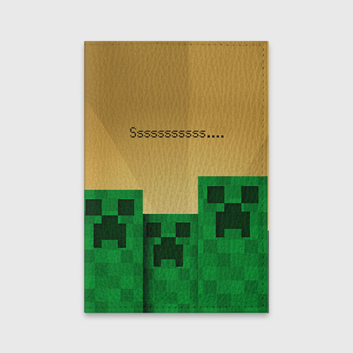 Обложка для паспорта матовая кожа Minecraft Фото 01