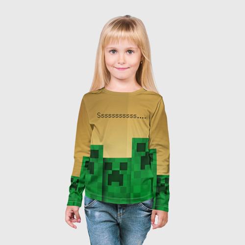 Детский лонгслив 3D Minecraft Фото 01