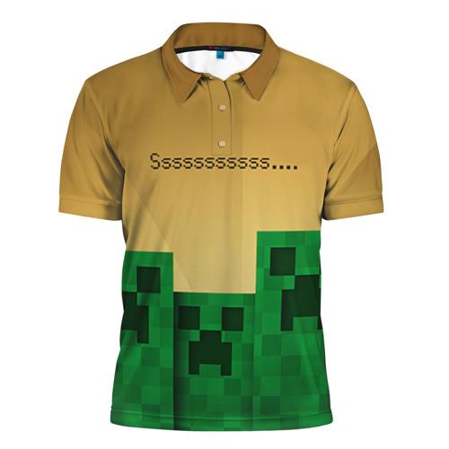 Мужская рубашка поло 3D Minecraft