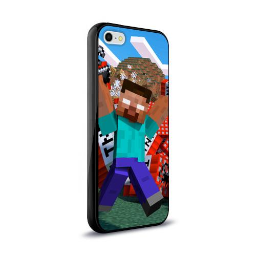 Чехол для Apple iPhone 5/5S силиконовый глянцевый Minecraft Фото 01