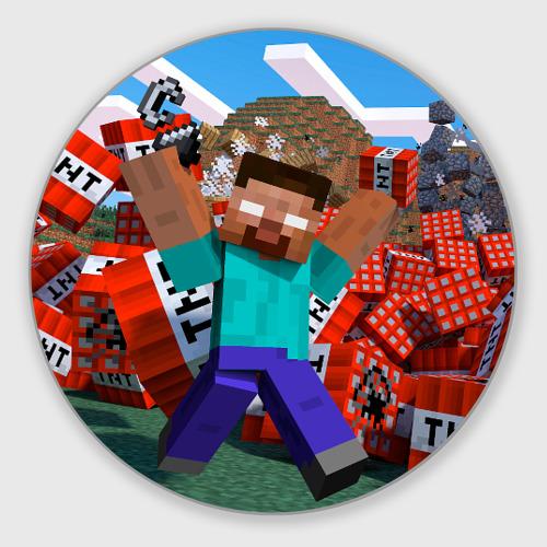 Коврик для мышки круглый Minecraft Фото 01