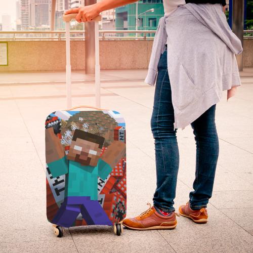 Чехол для чемодана 3D Minecraft Фото 01