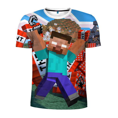 Мужская футболка 3D спортивная  Фото 01, Minecraft