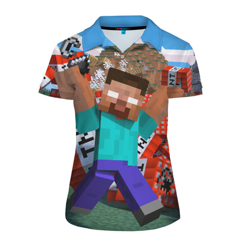 Женская рубашка поло 3D Minecraft