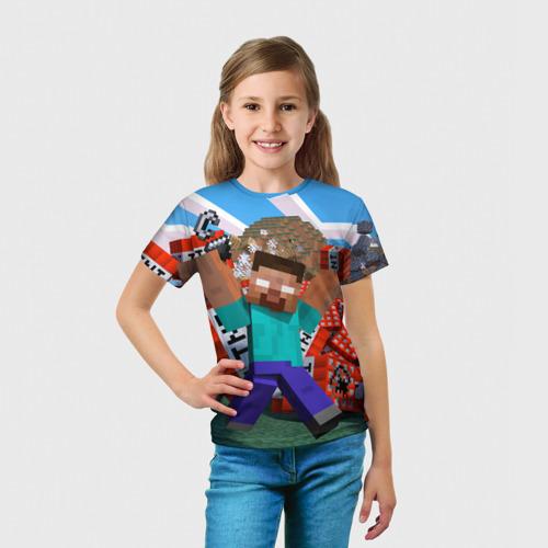 Детская футболка 3D 'Minecraft'