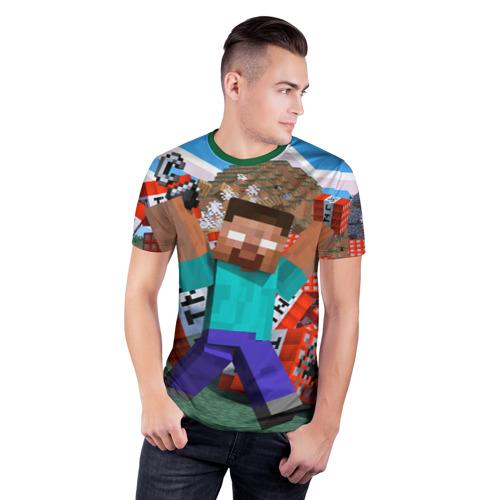 Мужская футболка 3D спортивная Minecraft Фото 01