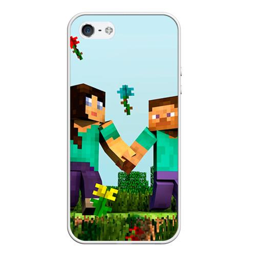 Чехол силиконовый для Телефон Apple iPhone 5/5S Minecraft от Всемайки