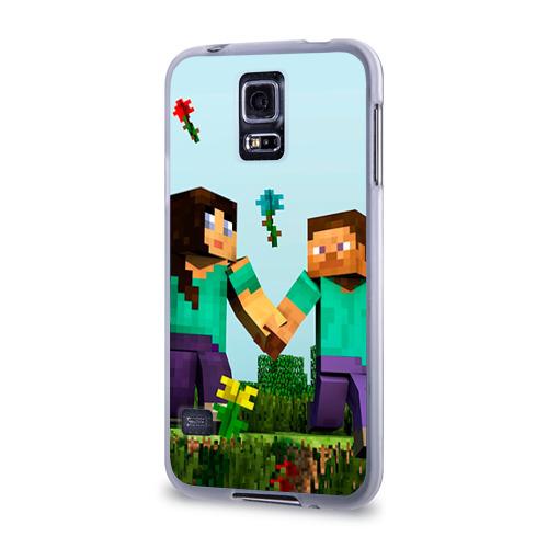 Чехол для Samsung Galaxy S5 силиконовый  Фото 03, Minecraft