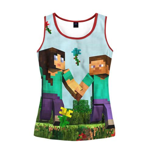 Женская майка 3D Minecraft