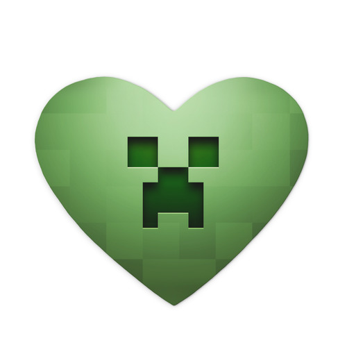Коврик для мыши сердце  Фото 01, Minecraft