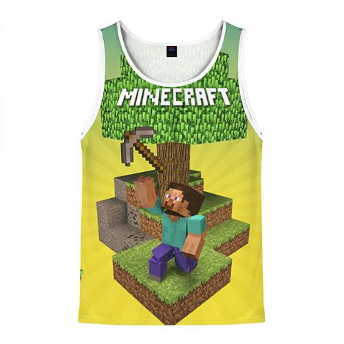 Мужская майка 3D Minecraft