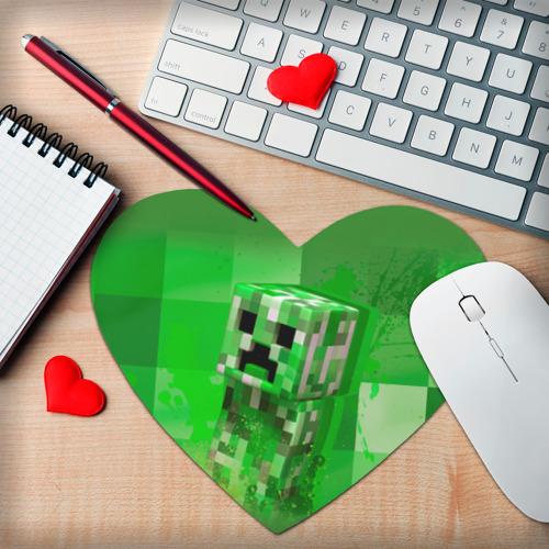 Коврик для мыши сердце  Фото 02, Minecraft
