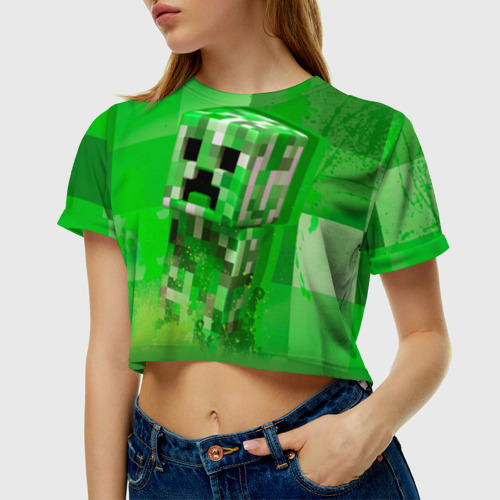Женская футболка Cropp-top Minecraft Фото 01