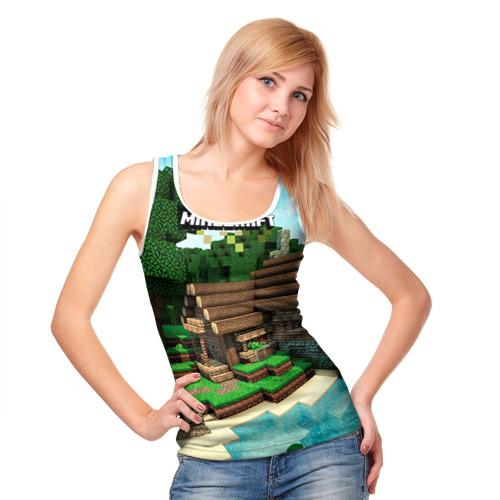 Женская майка 3D  Фото 05, Minecraft