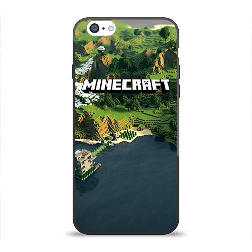 Чехол для Apple iPhone 6 силиконовый глянцевый Minecraft от Всемайки