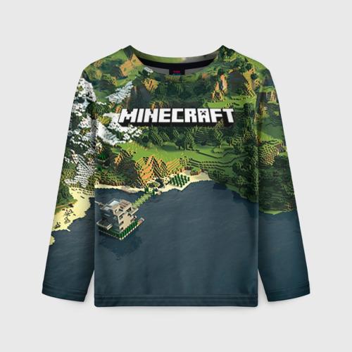 Детский лонгслив 3D Minecraft