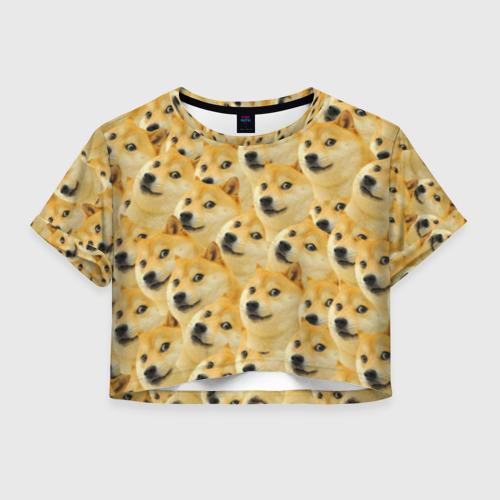 Женская футболка Cropp-top Doge Фото 01
