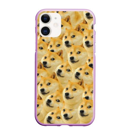 Чехол для iPhone 11 матовый Doge Фото 01