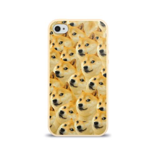 Чехол для Apple iPhone 4/4S силиконовый глянцевый Doge