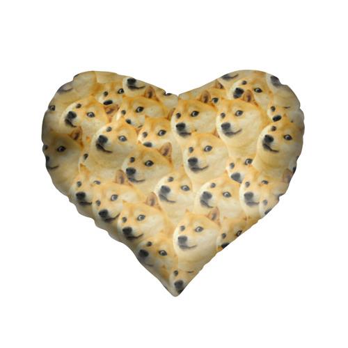 Подушка 3D сердце Doge