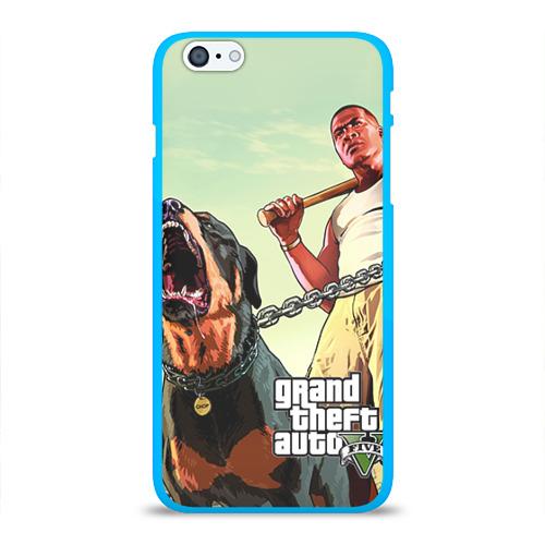 """Чехол силиконовый глянцевый для Apple iPhone 6 Plus """"GTA"""" (2) - 1"""
